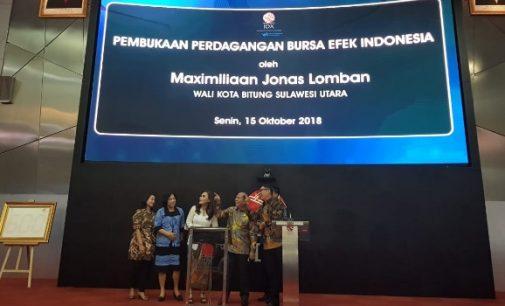 Wali Kota Bitung Buka Perdagangan Bursa Efek Indonesia