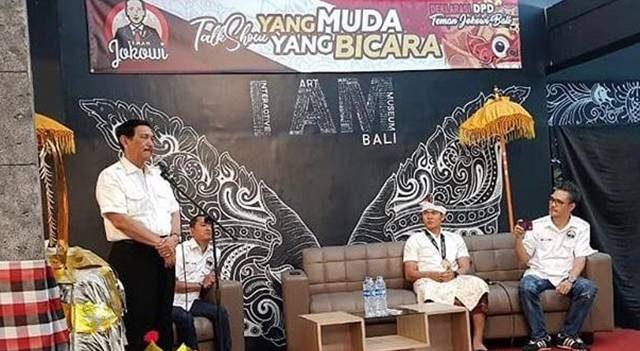 Deklarasi Relawan Teman Jokowi Bali Dihadiri Luhut Binsar Pandjaitan