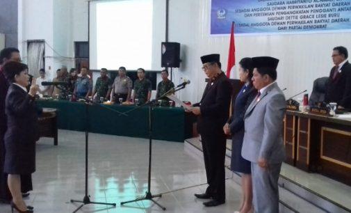 Dettie Grace Ruru Resmi Gantikan Posisi Habriyanto Achmad di DPRD Bitung