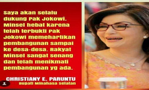 Tetty Paruntu Tegas Nyatakan Dukung Jokowi-Ma'ruf, Begini Alasannya