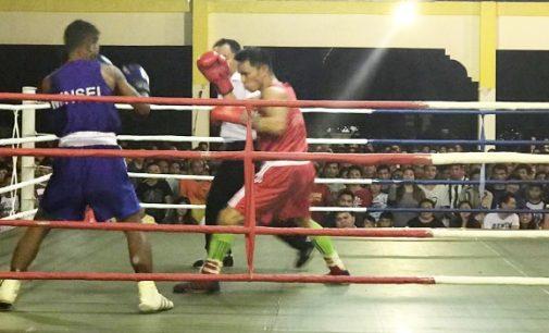 Atlet Amurang Raya Kuasai Final Cabor Tinju di Porkab Minsel