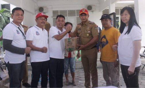 Bantuan Kemanusian Pemkot Manado Diterima Pasha Ungu