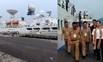 Gunakan Kapal MV Yuang Wang 3, Ratusan Tenaga Antariksa Mampir di Bitung