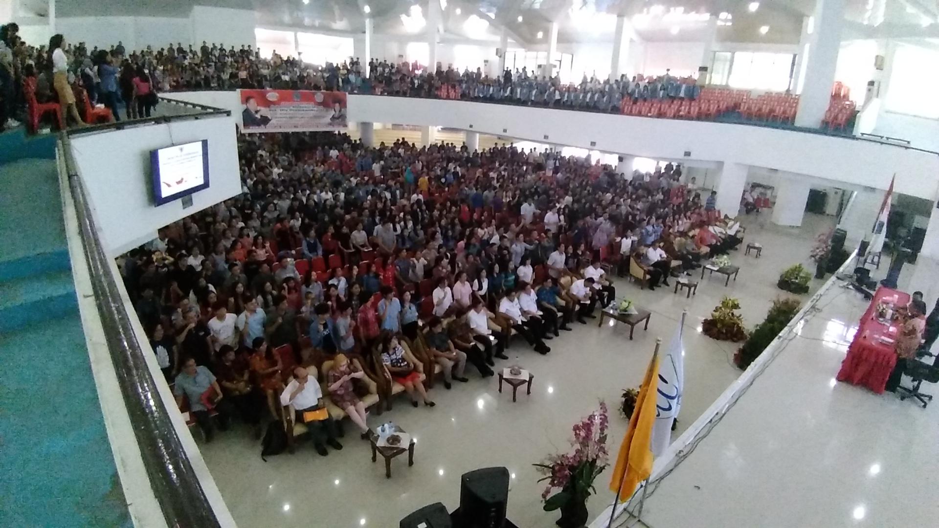 Talkshow Pancasila Goes To Campus, di Auditorium Unsrat, Rabu (24/10/2018)