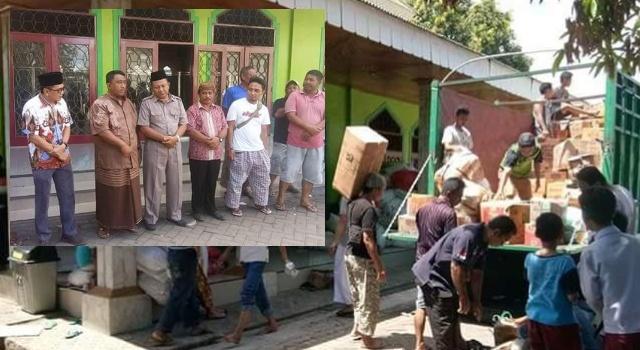 Ramlan bersama BSM Kota Bitung saat mengirimkan bantuan ke Sulteng