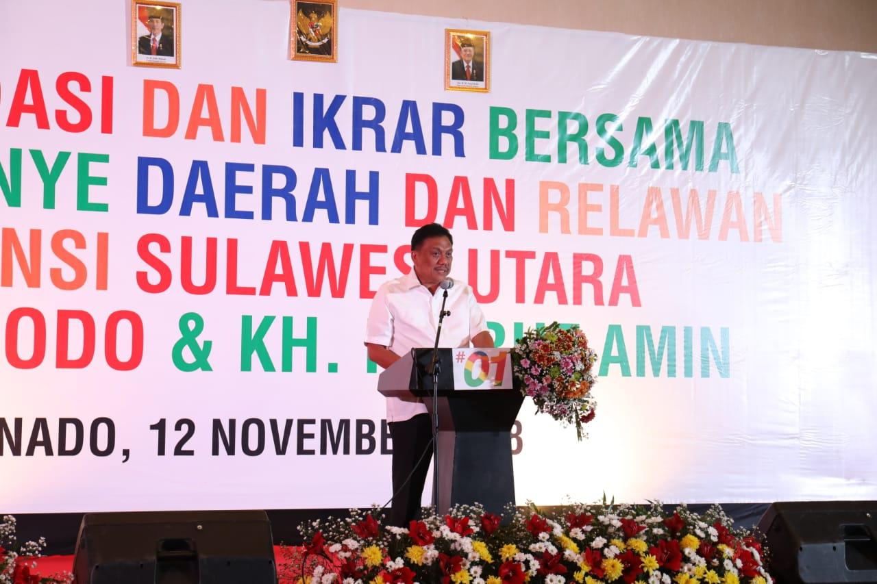 Ketua DPD PDI-Perjuangan Sulawesi Utara, Olly Dondokambey