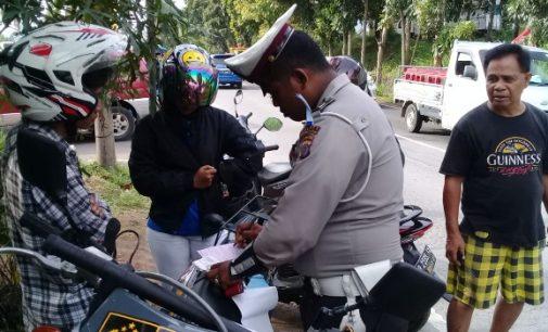 Tanpa Helm, Dominasi Pelanggaran Operasi Zebra Samrat 2018