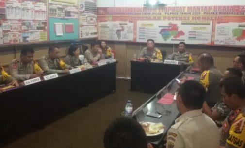 Untuk Maksud Ini, Tim Supervisi Biro Ops Polda Sulut Sambangi Polres Minsel