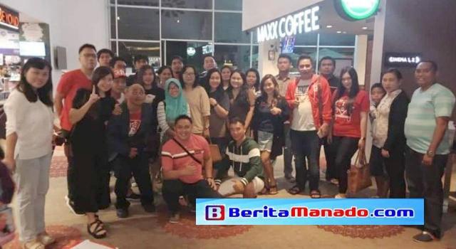 Nonton bareng film Ahok di Cinemaxx Lippo Plaza Manado.