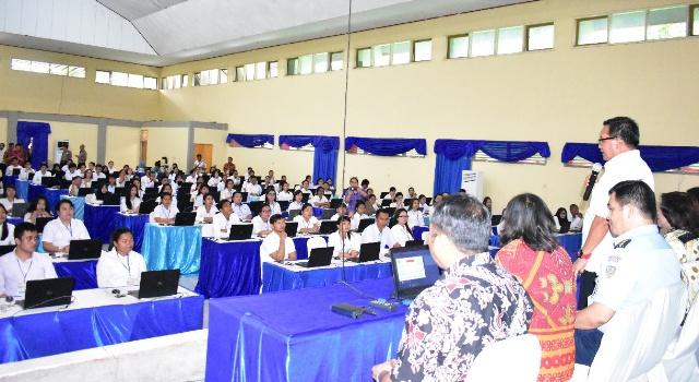 Wawali saat buka tes CPNS 2018 Kota Bitung