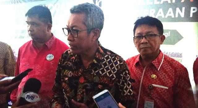 M Syakri saat diwawancarai awak media usai membuka KNK IX di Manado