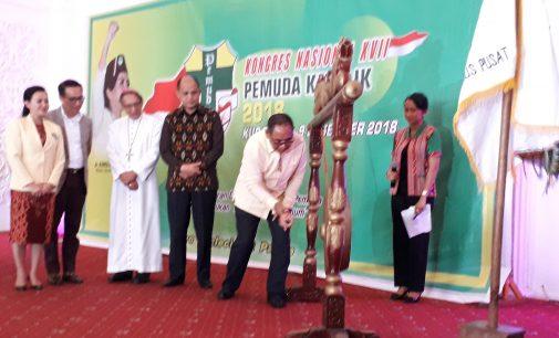 Pembukaan Kongres Nasional XVII Pemuda Katolik di Kupang Meriah