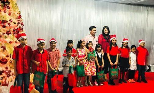 Sukacita Menyambut Natal Anak-anak Sekolah Minggu bersama Wagub Steven Kandouw