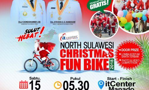 Start di IT Center, Ribuan Santa Claus akan Bersepeda Hiasi Manado