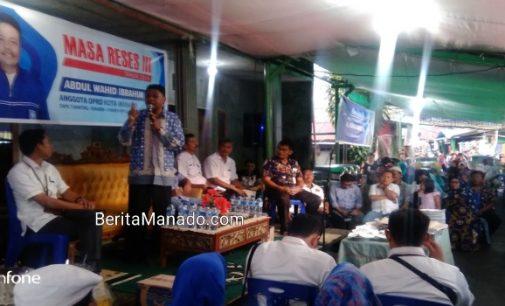 Reses Abdul Wahid Ibrahim, Warga Keluhkan Penataan PD Pasar Manado