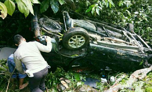 Mobil Masuk Jurang Gunung Potong, Begini Kondisi Seorang Pendeta dan Pengemudi