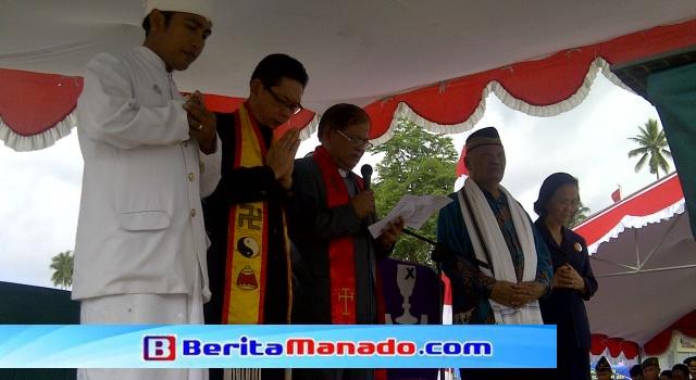 Doa bersama lintas agama di Kota Bitung