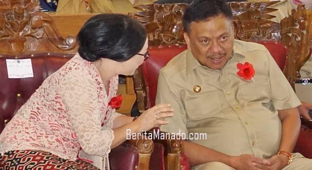 Gbl Fetrisia Alling dan Gubernur Sulut Olly Dondokambey