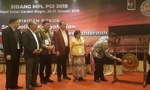 Dihadiri Olly Dondokambey, Menteri Agama Buka Sidang MPL PGI