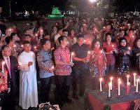 Pemprov Sulut Doakan Korban Bencana Palu dan Banten-Lampung dengan Pasang Lilin di Pisah Tahun