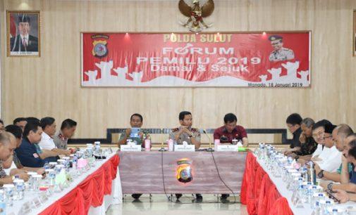 Gelar Forum Pemilu 2019 Damai dan Sejuk, Kapolda Harap Stakeholder Komitmen