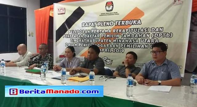 Pleno penetapan DPTb Minahasa Utara.