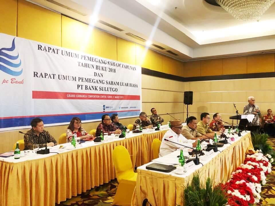 Hasil RUPS Bank Sulutgo: Pemegang Saham Evaluasi Kinerja ...