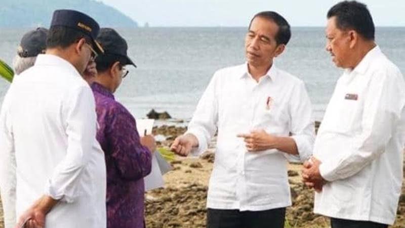 Jokowi bersama Olly-Dondokambey Foto Kementerian Sekretariat Negara RI