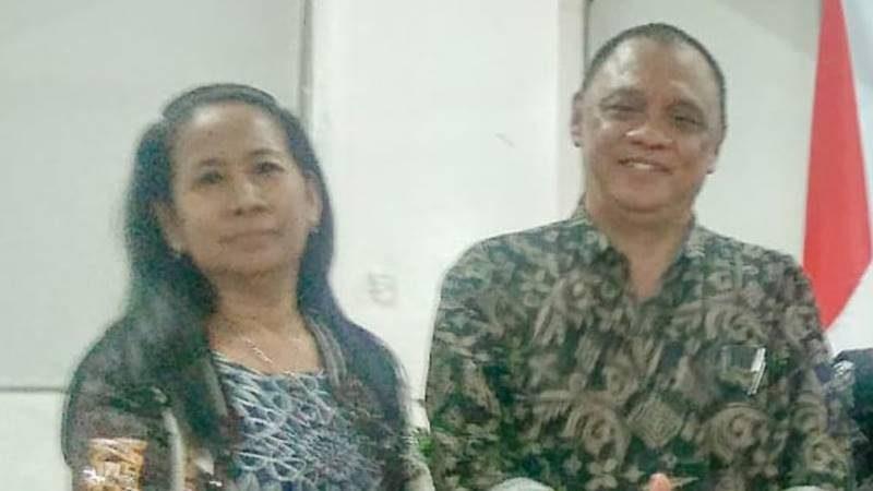 Ketua IPSPI Sulut foto bersama Ketua DPP IPSPI Sulut