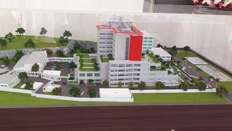 Maket pembangunan RSUD Provinsi Sulut yang dikerjakan kontraktor PT Pembangunan Perumahan