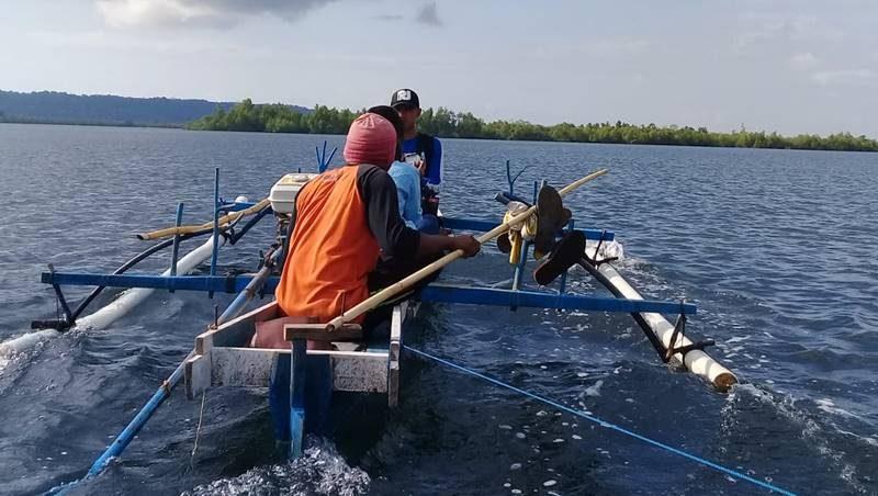 Suasana di perairan lokasi memancing depan Pulau Napomanu Sarawet di Likupang