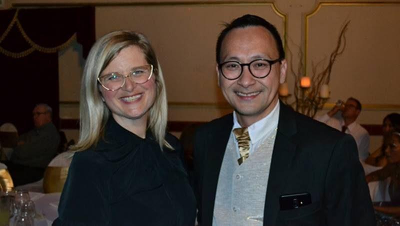 Wakil Walikota City of Darebin, Susanne Newton dan Sekretaris KMA, Jeffry Liando