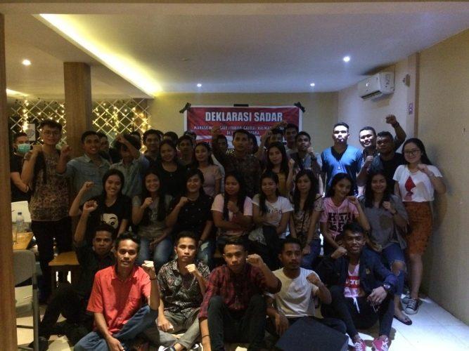 Deklarasi mahasiswa Halmahera Utara asal Togale di Sulawesi Utara