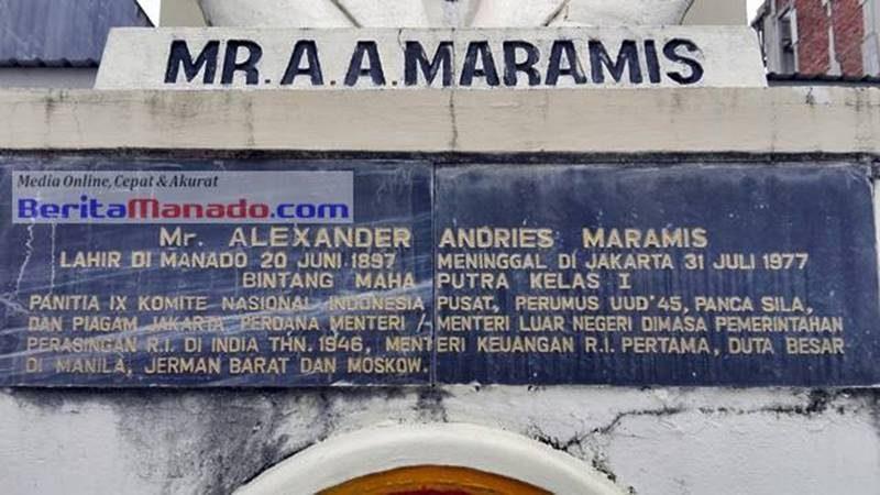 Monumen KRIS (Kebaktian Rakyat Indonesia Sulawesi Utara) Mr Alexander Andries Maramis