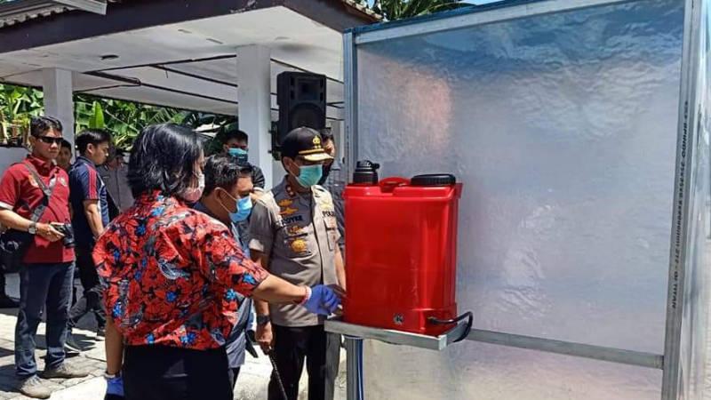 Pemprov Sulut Produksi Massal Bilik Disinfektan ...