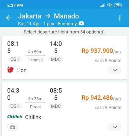 Tiket Pesawat Jakarta Manado