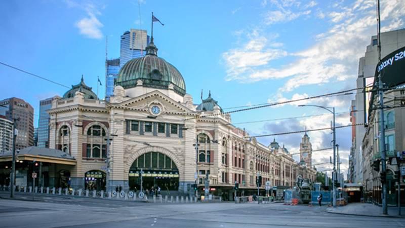 Sepinya Kota Melbourne saat Covid-19, Flinders Street Station (Foto: Windu Kuntoro).