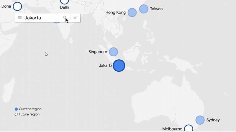 Google Cloud Platform Region kini hadir di Jakarta