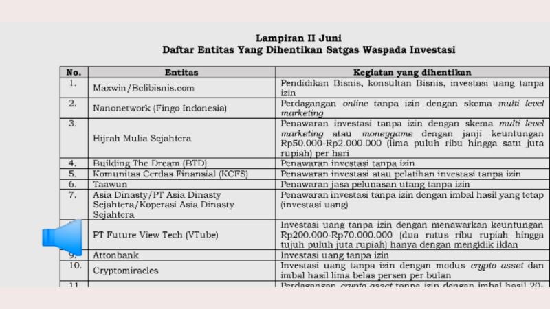 Dirilis Swi Vtube Masuk Daftar Investasi Uang Tanpa Izin Beritamanado Com Berita Terkini Manado Sulawesi Utara