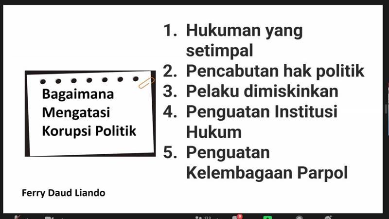 Bagaimana mengatasi korupsi politik?